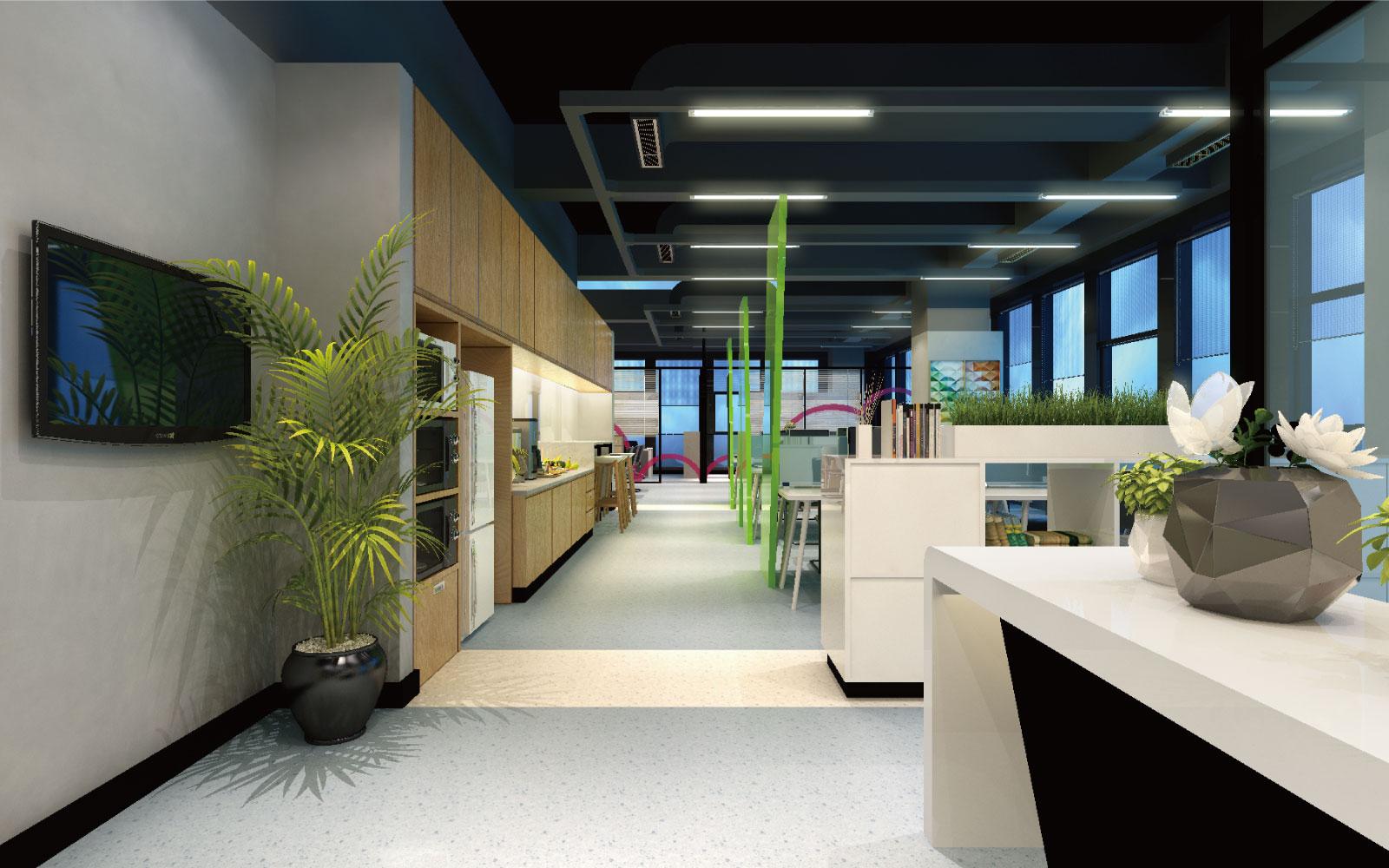 现代办公空间设计各功能区域的特点